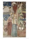 Satan Asking God to Tempt Job, Detail of Musicians, 1356-67 Giclee Print by Also Manfredi De Battilori Bartolo Di Fredi