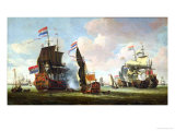 The Arrival of Michiel Adriaanszoon de Ruyter Giclee Print by Abraham Storck