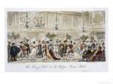 The Fancy Ball at the Upper Rooms, Bath, from The English Spy, by Charles Molloy Westmacott Giclee Print by Isaac Robert Cruikshank
