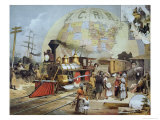 Illinois Central Railroad, c.1886 Giclee Print