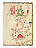 Map of Europe, from Carte Geografiche Giclee Print by Jacopo Russo