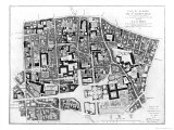 Map of Sainte-Genevieve Area, Paris, 1756 Giclee Print by Jean De La Grive