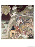 The Massacre of the Servants and Herdsmen of Job, 1356-67 Giclee Print by Also Manfredi De Battilori Bartolo Di Fredi