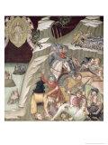 The Massacre of the Servants and Herdsmen of Job, 1356-67 Giclee Print by Also Manfredi De Battilori Bartolo Di Fredi