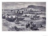Building the Northern Pacific Railroad, from Harper's Weekly, 17th July 1875 Giclee Print