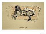 Execration, 1930, 1st Edition of Sleeping Partners Giclee Print by Cecil Aldin