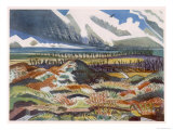 Ruined Country, Vimy, British Artists at the Front, Continuation of the Western Front, Nash, 1918 Giclee Print by Paul Nash
