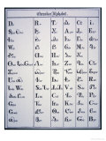 Cherokee Alphabet, Developed in 1821 Giclee Print