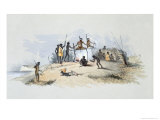 Aboriginal Inhabitants, Native Tombs and Disposing of Their Dead, South Australia Illustrated, 1847 Giclee Print by George French Angas
