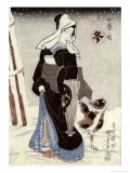 Winter, from the Series Shiki No Uchi Giclee Print by Utagawa Kunisada