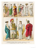 Greek Dress, from Trachten Der Voelker, 1864 Giclee Print by Albert Kretschmer