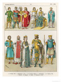 Dress at the Byzantine Court, 800-1000, from Trachten Der Voelker, 1864 Giclee Print by Albert Kretschmer
