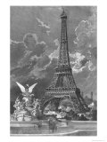 The Eiffel Tower Giclee Print by Albert Bellenger