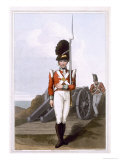 Grenadier of the First West York Militia, c.1814 Giclee Print by George Walker