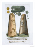 Viking Artifacts, Elsevir, Denmark, Le Costume Ancien et Moderne, c.1820-30 Giclee Print by Vittorio Raineri