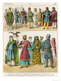 French Dress, c.1000, from Trachten Der Voelker, 1864 Giclee Print by Albert Kretschmer