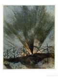 Bursting Shell, from British Artists at the Front, Continuation of the Western Front, 1918 Giclee Print by Christopher Richard Wynne Nevinson