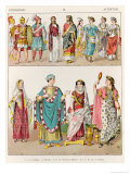 Etruscan Dress, from Trachten Der Voelker, 1864 Giclee Print by Albert Kretschmer