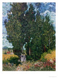 The Cypresses, c.1889-90 Giclee Print by Vincent van Gogh