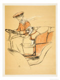 Up Front in My Mistress's Car, Cecil Aldon Giclee Print by Cecil Aldin