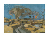 Shelling the Duckboards, from British Artists at the Front, Continuation of the Western Front, 1918 Giclee Print by Paul Nash
