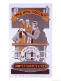 The New Holiday', Advertisement For United States Lines, SS Leviathan, 1920S Giclee Print