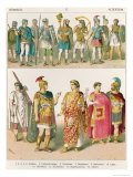 Roman Military Dress, from Trachten Der Voelker, 1864 Giclee Print by Albert Kretschmer