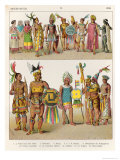 Mexican Dress, c.1500, from Trachten Der Voelker, 1864 Giclee Print by Albert Kretschmer