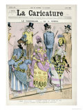 Varnishing Day', Cover Illustration of La Caricature Magazine, 9th May 1885 Giclee Print by Albert Robida