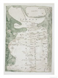 Map of England, Scotland and Wales, Ms Cotton Julius, c.1250 Giclee Print by Matthieu Paris