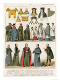 Ecclesiastical Dress, c.1100-1500, from Trachten Der Voelker, 1864 Giclee Print by Albert Kretschmer