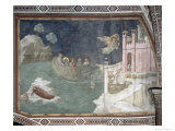 The Miraculous Arrival of Lazarus and His Sisters in Marseilles, 1320 Giclee Print by  Giotto di Bondone