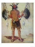 Old Bear Medicine Man of the Mandan Tribe, from a Painting of 1832 Giclee Print by George Catlin