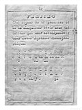 First Page of Procede Pour Ecrire Au Moyen de Points a L'Usage Des Aveugles by Louis Braille, Giclee Print