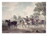Belgian Wagon Conveying Wounded from the Field After the Battle of Waterloo, 1815 Lmina gicle por John Augustus Atkinson