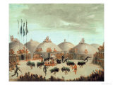 Buffalo Bull Dance of the Mandan Tribe Giclee Print by George Catlin