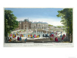 View of the Chateau de Saint-Cloud Near Versailles, Mid 18th Century Giclee Print by Martin Engelbrecht