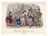 Children at Play, Fashion Plate from the Allgemeine Moden-Zeitung, Leipzig, 1872 Giclee Print by Jules David
