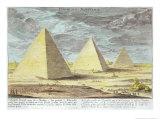 Pyramids of Egypt, Plate 4, Entwurf Einer Historischen Architektur, Engraved Johann Adam Delsenbach Giclee Print by Johann Bernhard Fischer Von Erlach