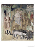 The Journey of Abraham and Lot, 1356-67 Giclee Print by Also Manfredi De Battilori Bartolo Di Fredi