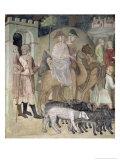 The Journey of Abraham and Lot, 1356-67 Giclee Print by Also Manfredi De Battilori Bartolo Di Fredi