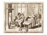 Husband with Wife Seated on Knee by Fireplace, Bosse, Abraham Giclee Print by Abraham Bosse