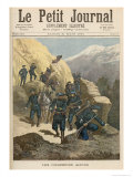 Mountain Infantrymen, from Le Petit Journal, 21st March 1891 Giclee Print by Fortune Louis Meaulle