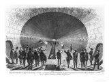 Main Sewer from the Strasbourg Station to the Seine. Official Visit of the Minister of Interior Gicl&#233;e-Druck von Henry Augustin Valentin
