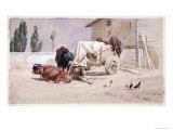 La Siesta: Scene in the Eastern Pyrenees, 1872 Giclee Print by Richard Beavis