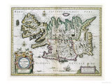 Map of Iceland Giclee Print by W.j. Blaeu