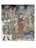 The Separation of Abraham and Lot, 1356-67 Giclee Print by Also Manfredi De Battilori Bartolo Di Fredi