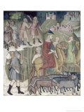 The Separation of Abraham and Lot, 1356-67 Giclee Print by Also Manfredi De Battilori Bartolo Di Fredi