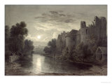 Allington Castle, Near Maidstone, Kent, Moonlight Giclee Print by James Bayes