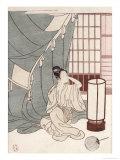Young Woman Kneeling by Her Mosquito Net, 1766 Giclee Print by Suzuki Harunobu